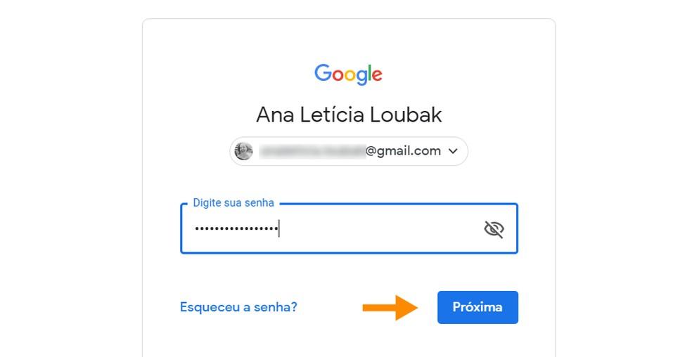 Enter your password to proceed Photo: Reproduction / Ana Letcia Loubak