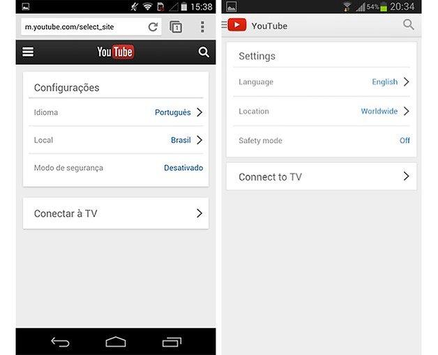 Youtube web mobile version