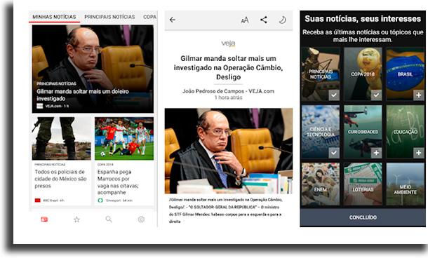 Microsoft News applications to read news