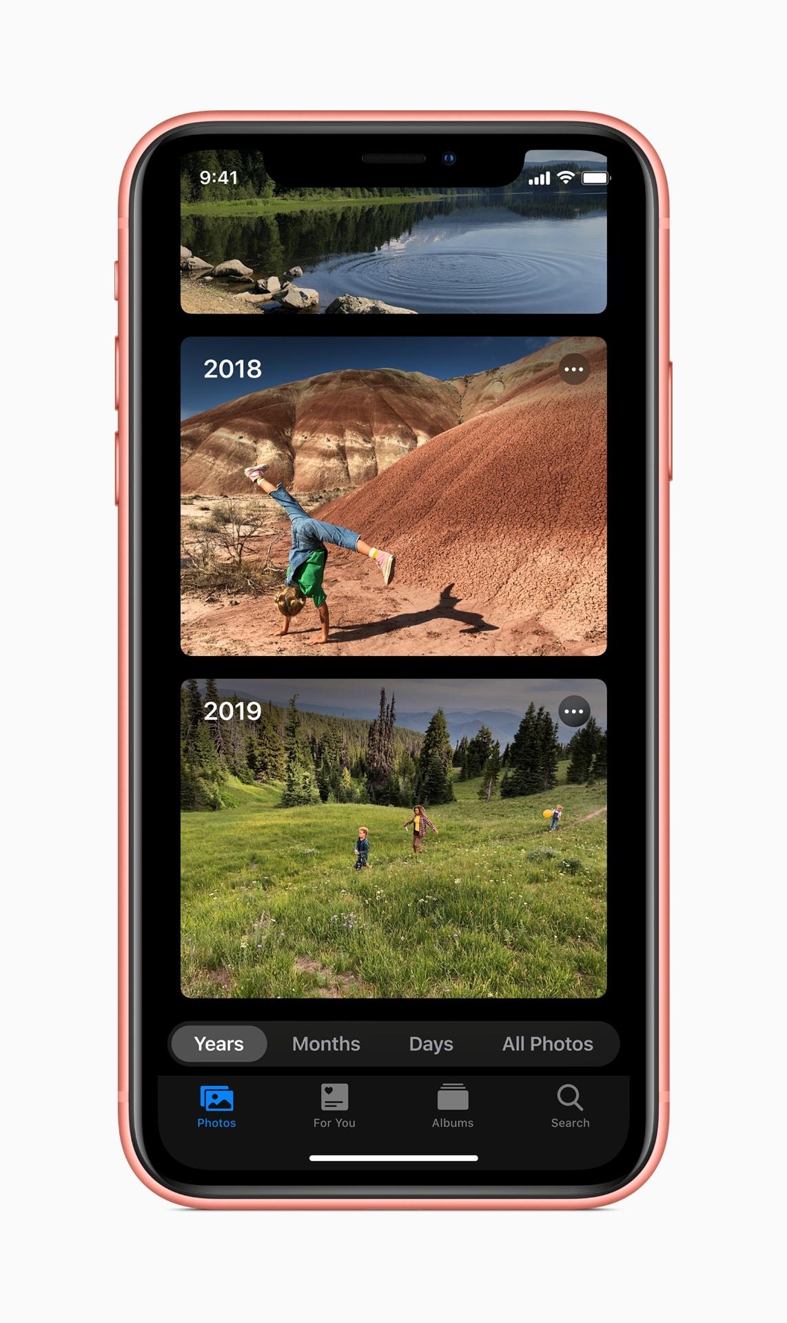Browsing photos on iOS 13