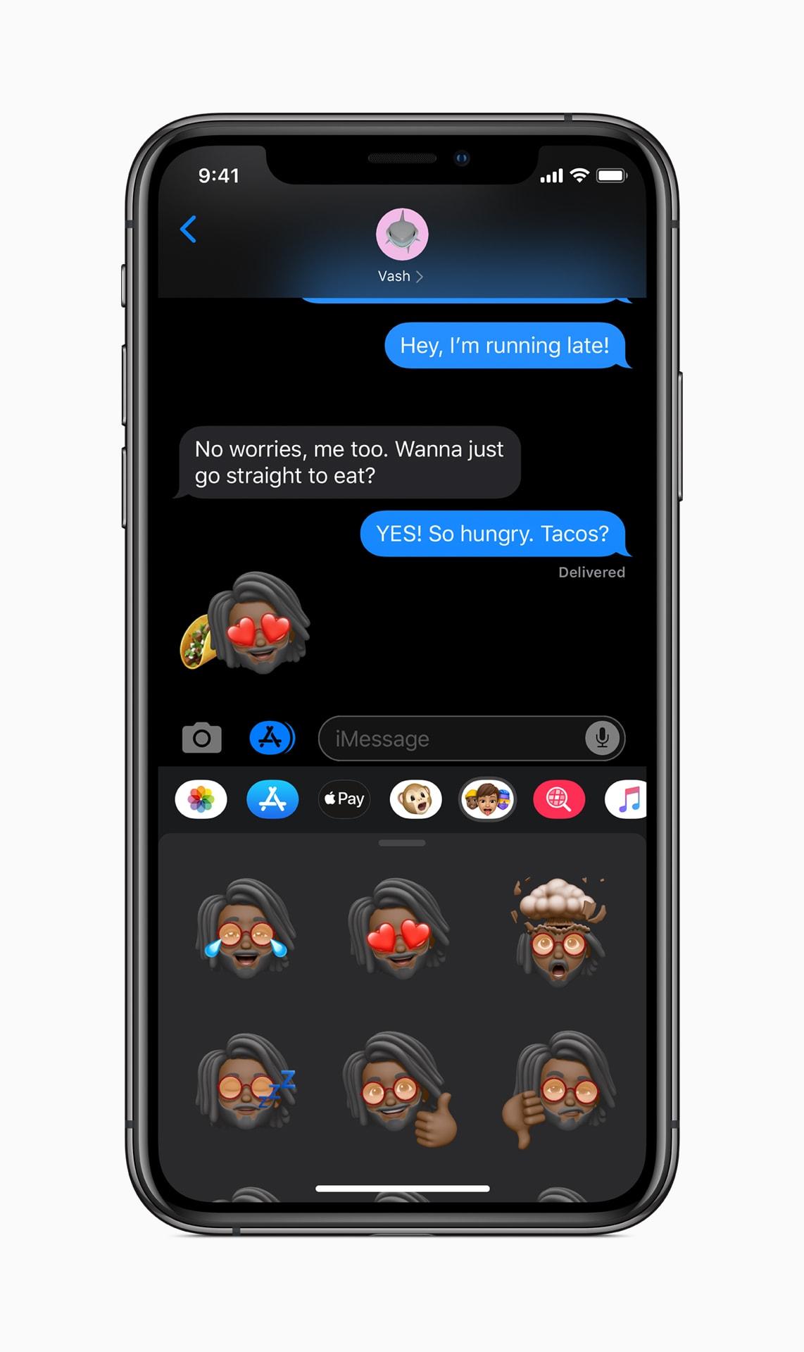 Memoji in iOS 13 Messaging app