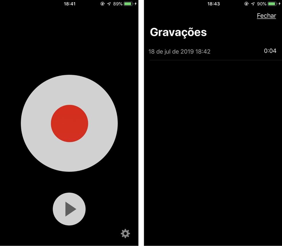 TapeACall records phone calls on iPhone (iOS) conferencing between calls Photo: Playback / Rodrigo Fernandes