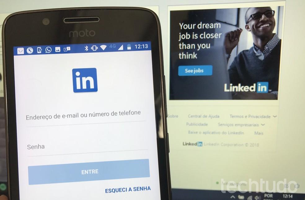 LinkedIn Lite provides professional networking facilities Photo: Reproduo / Rodrigo Fernandes