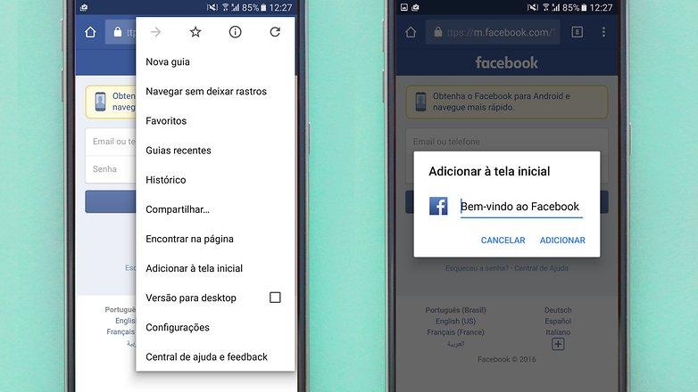 facebook screen shortcut