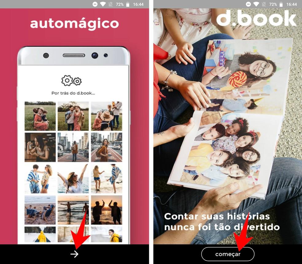 Welcome screen explains how d.book works Photo: Reproduo / Rodrigo Fernandes