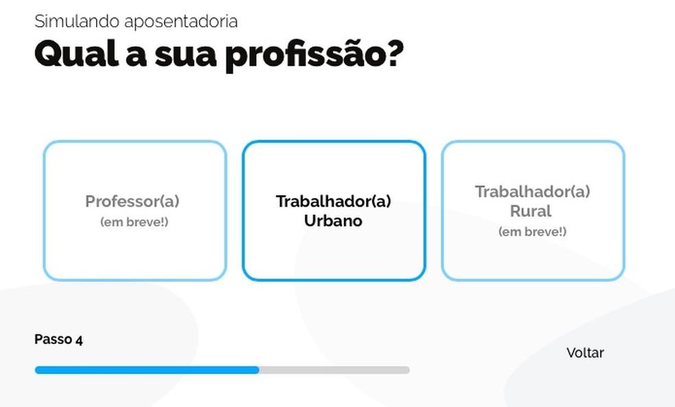 Select your profession Photo: Reproduction / Helito Beggiora