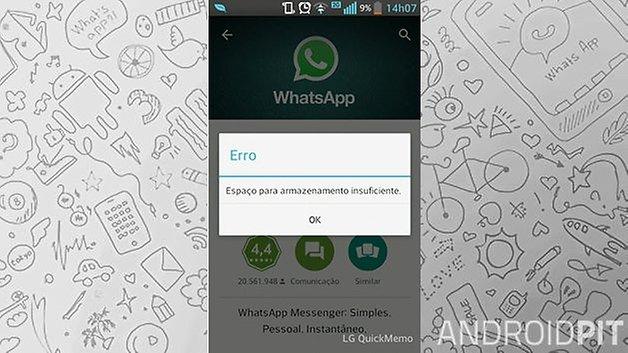 androidpit whatsapp memory installation error