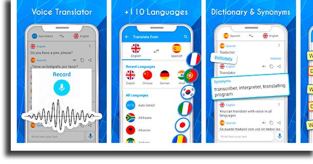 Translator voice translation applications