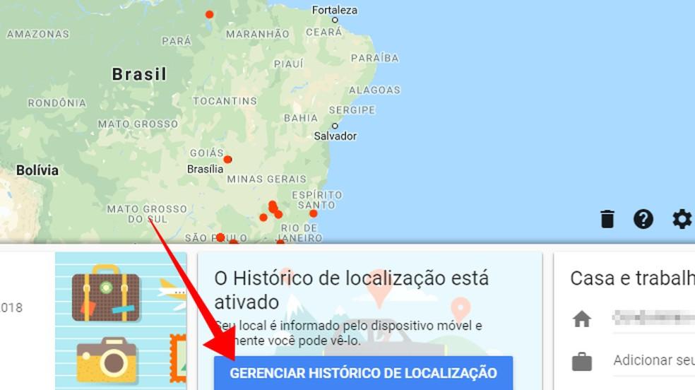 Manage Google Maps location history Photo: Reproduction / Paulo Alves
