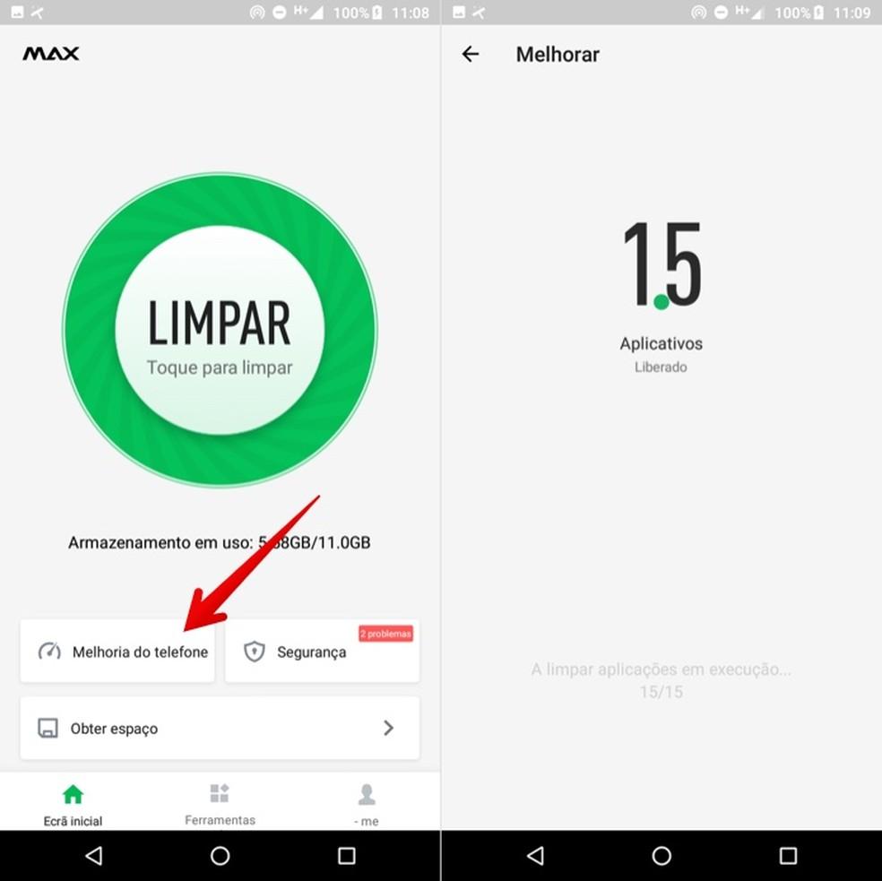 Optimizing phone performance Photo: Reproduo / Helito Beggiora
