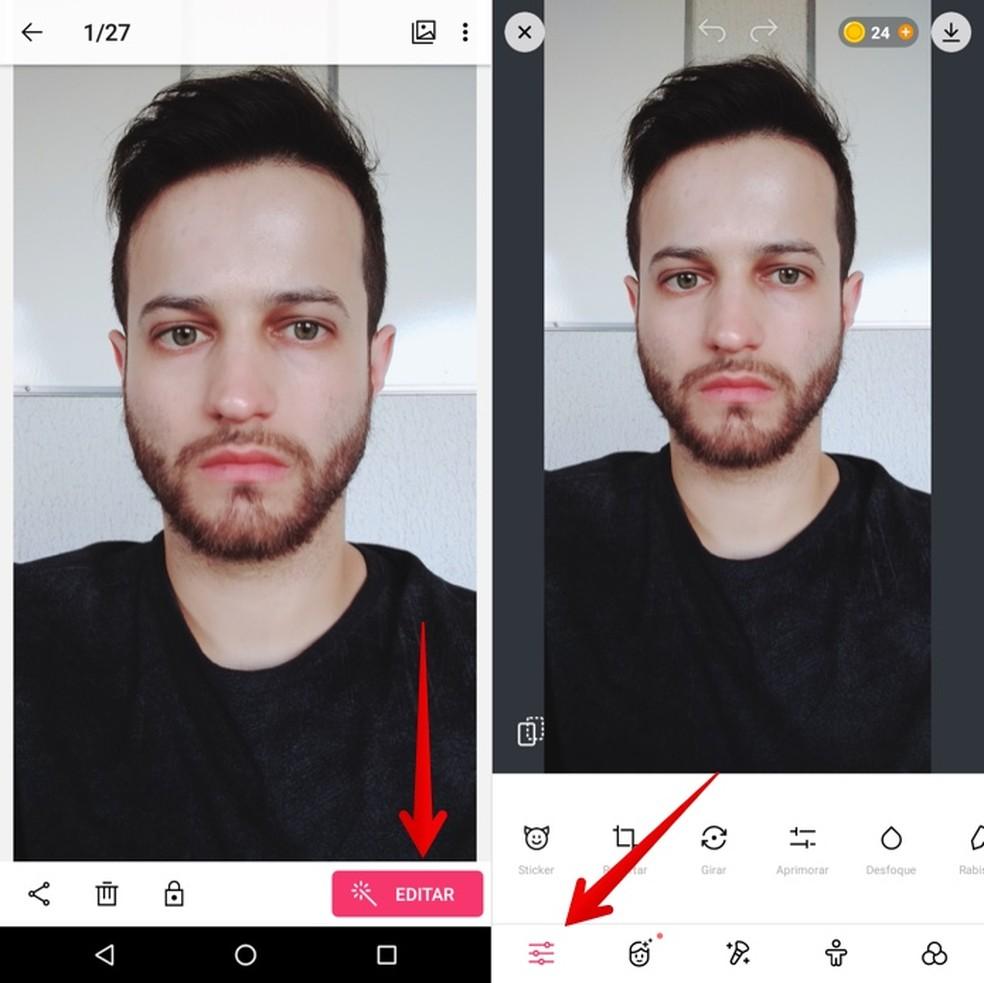 Editing photo in ColorCam Photo: Reproduction / Helito Beggiora