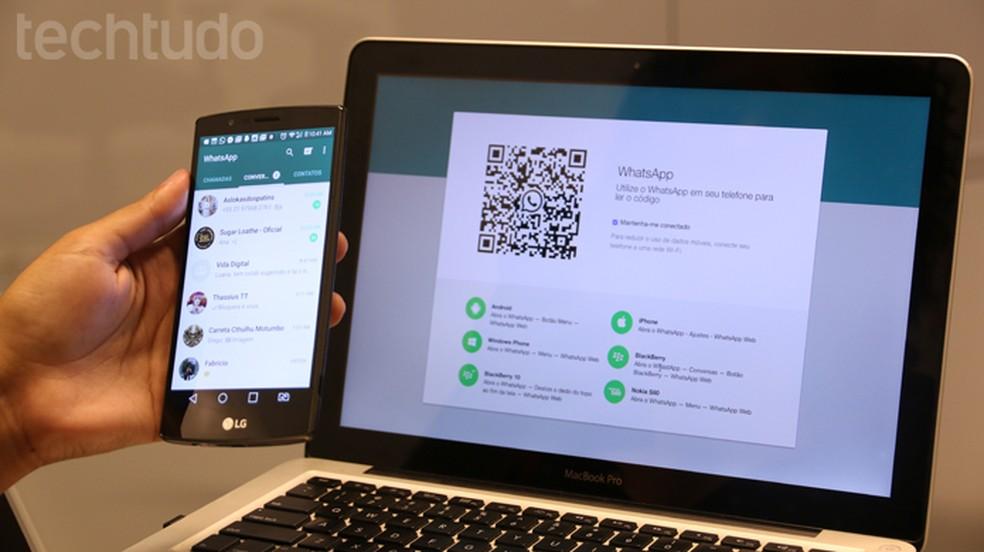 Whatsapp login Web requires QR code Photo: Luana Marfim / dnetc