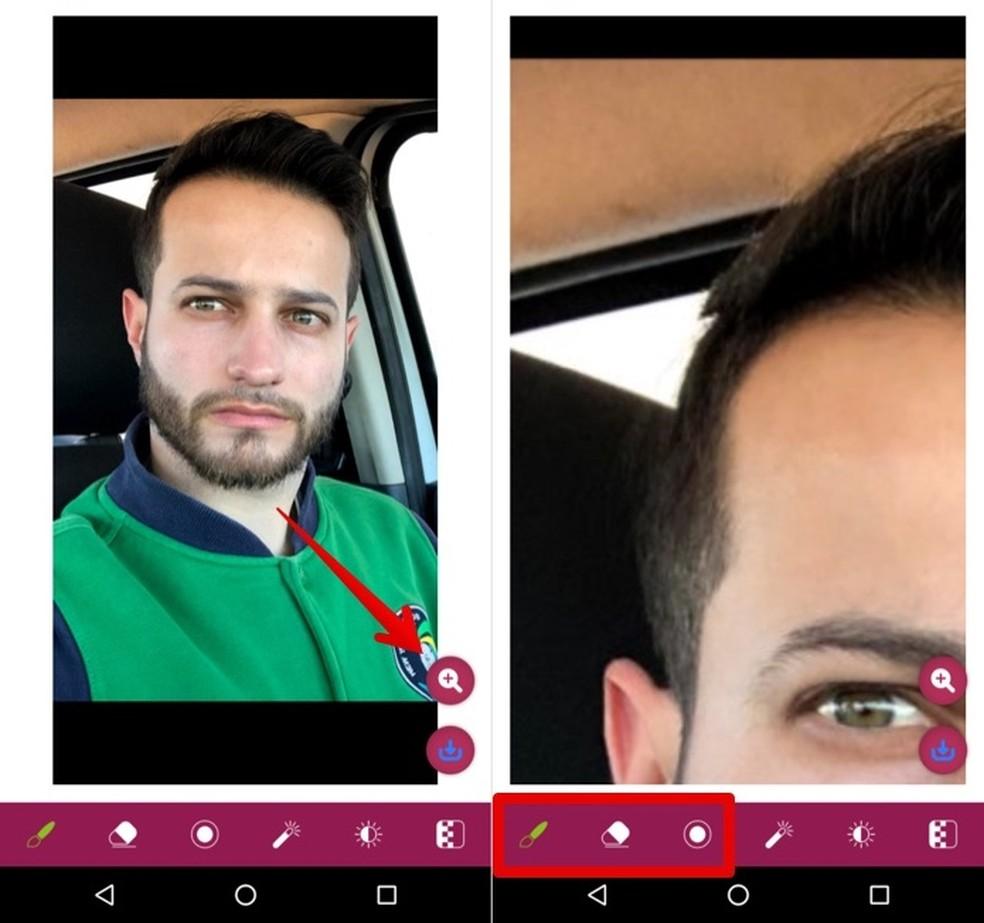 Zoom photo into hair Photo: Reproduction / Helito Beggiora