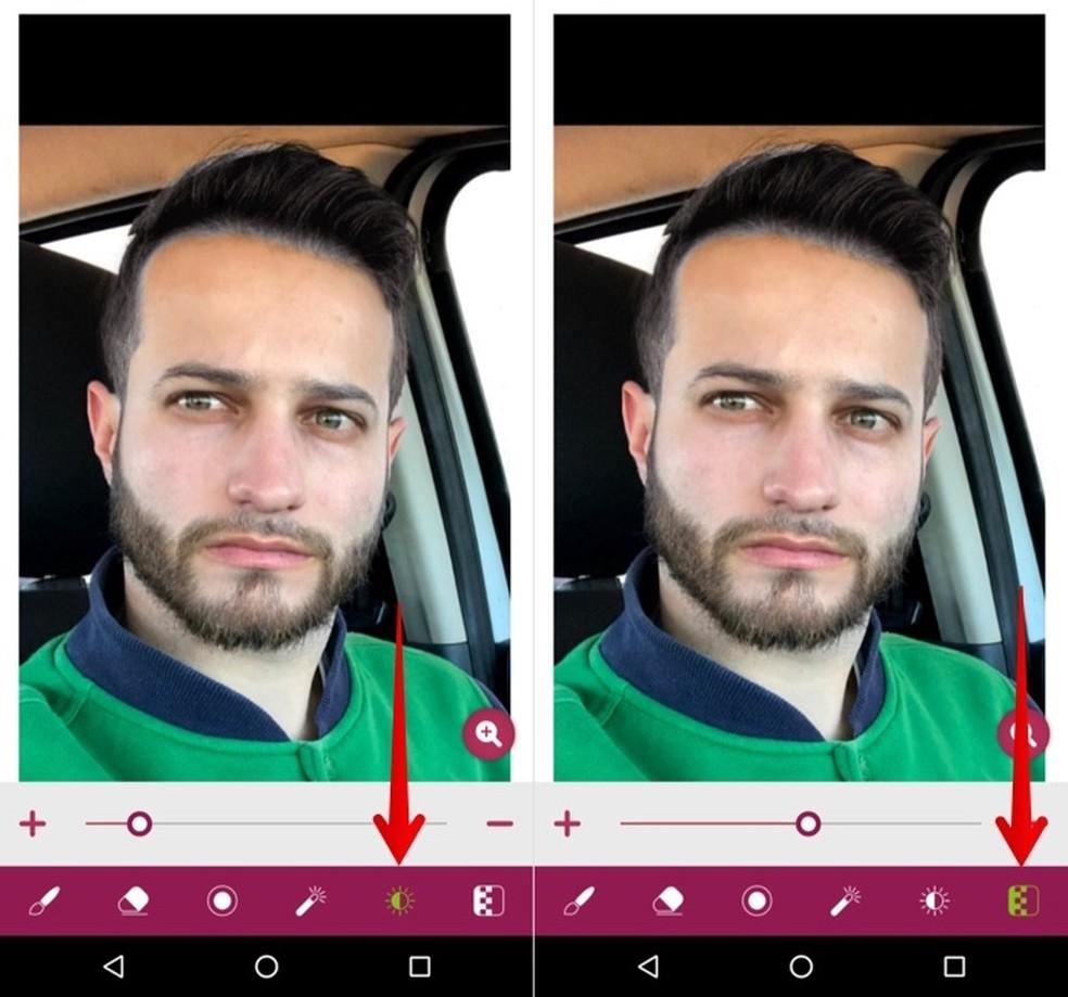 Adjusting brightness and opacity Photo: Reproduction / Helito Beggiora