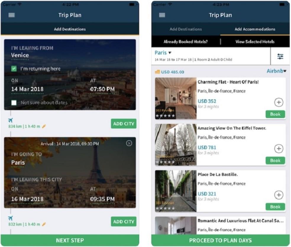 Use TripHobo to discover your next destination Photo: Divulgação / TripHobo