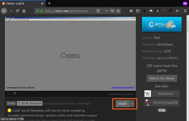 nintendo-wiiu-emulator-decaf-cemu-windows-linux-wine-pol-playonlinux-lutris-ubuntu-mint