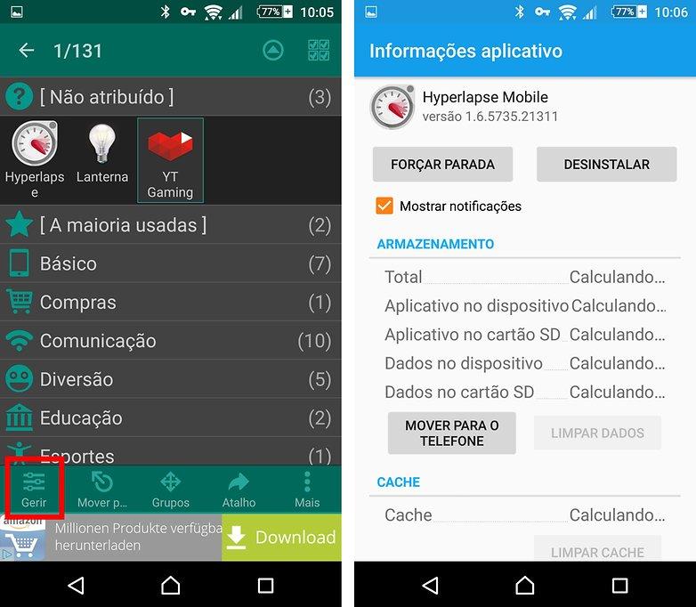 glextor info app cleaning cache