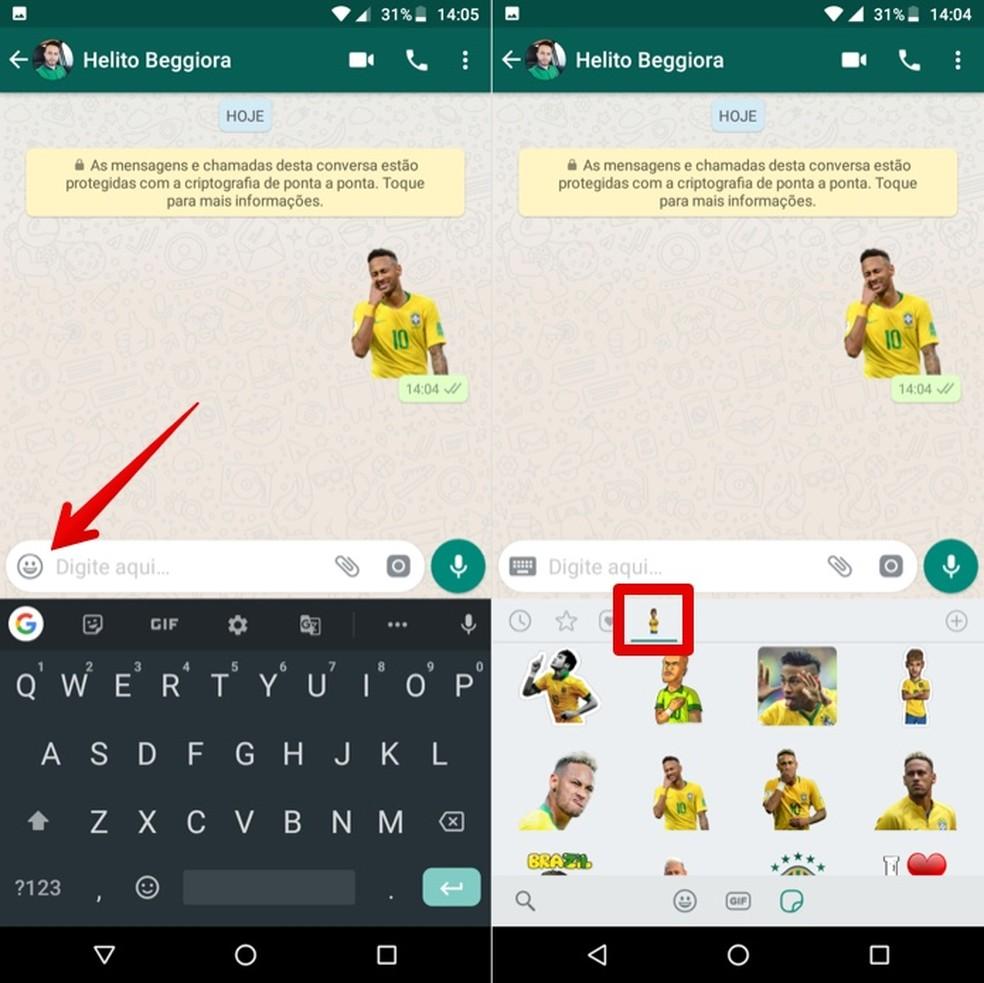 Sending Neymar stickers Photo: Reproduction / Helito Beggiora