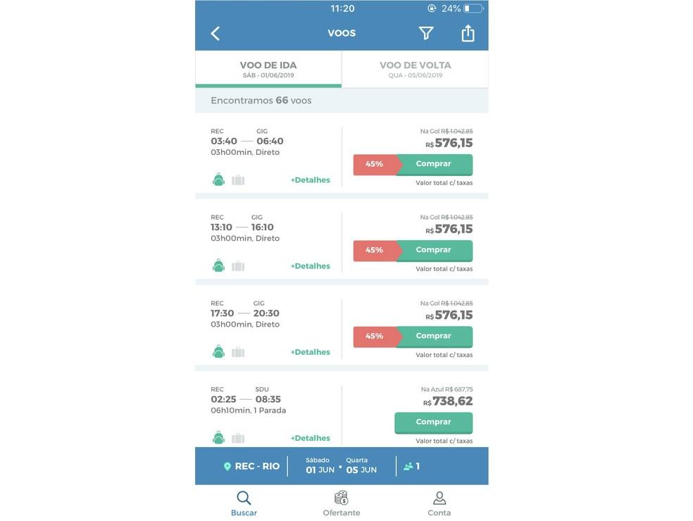 MaxMilhas shows lowest ticket price areas Photo: Reproduction / Rodrigo Fernandes