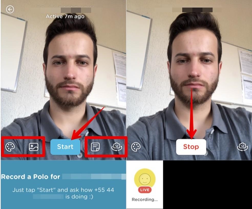 Sending a video message Photo: Playback / Helito Beggiora