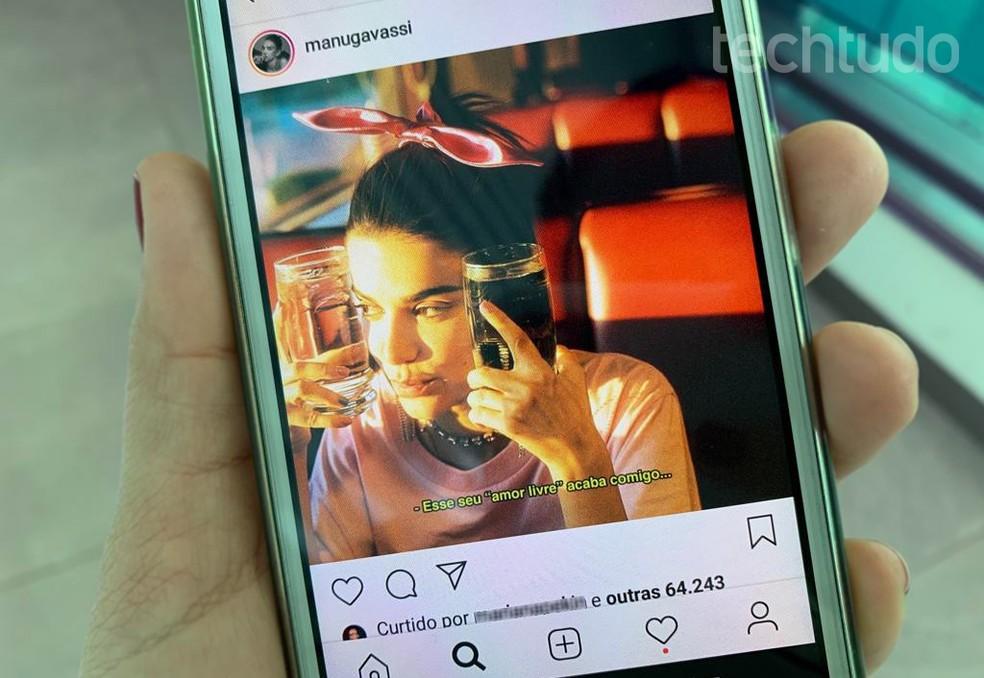 """Instagram """"delata"""" usurios likes Photo: Nicolly Vimercate / TechTudo"""