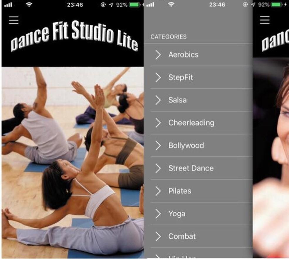 Dana Fit Studio Lite has huge variety of dances Photo: Reproduction / Julia Marques