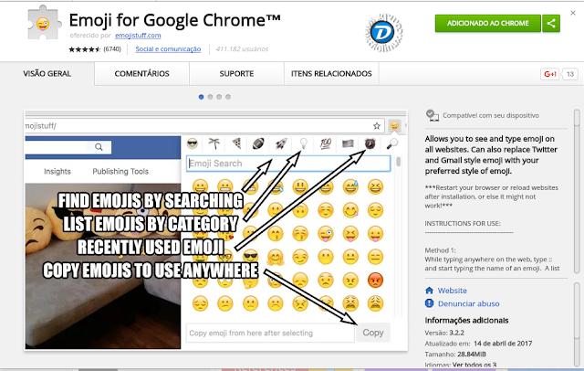 Emoji for Chrome