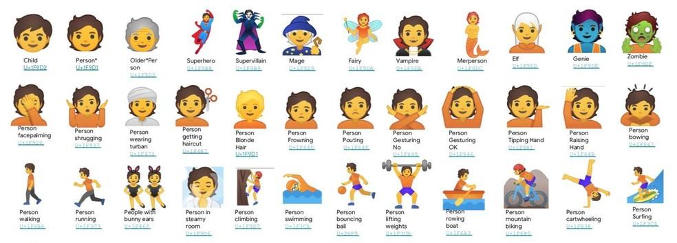 New gender-inclusive emoji released by Google Photo: Disclosure / Google