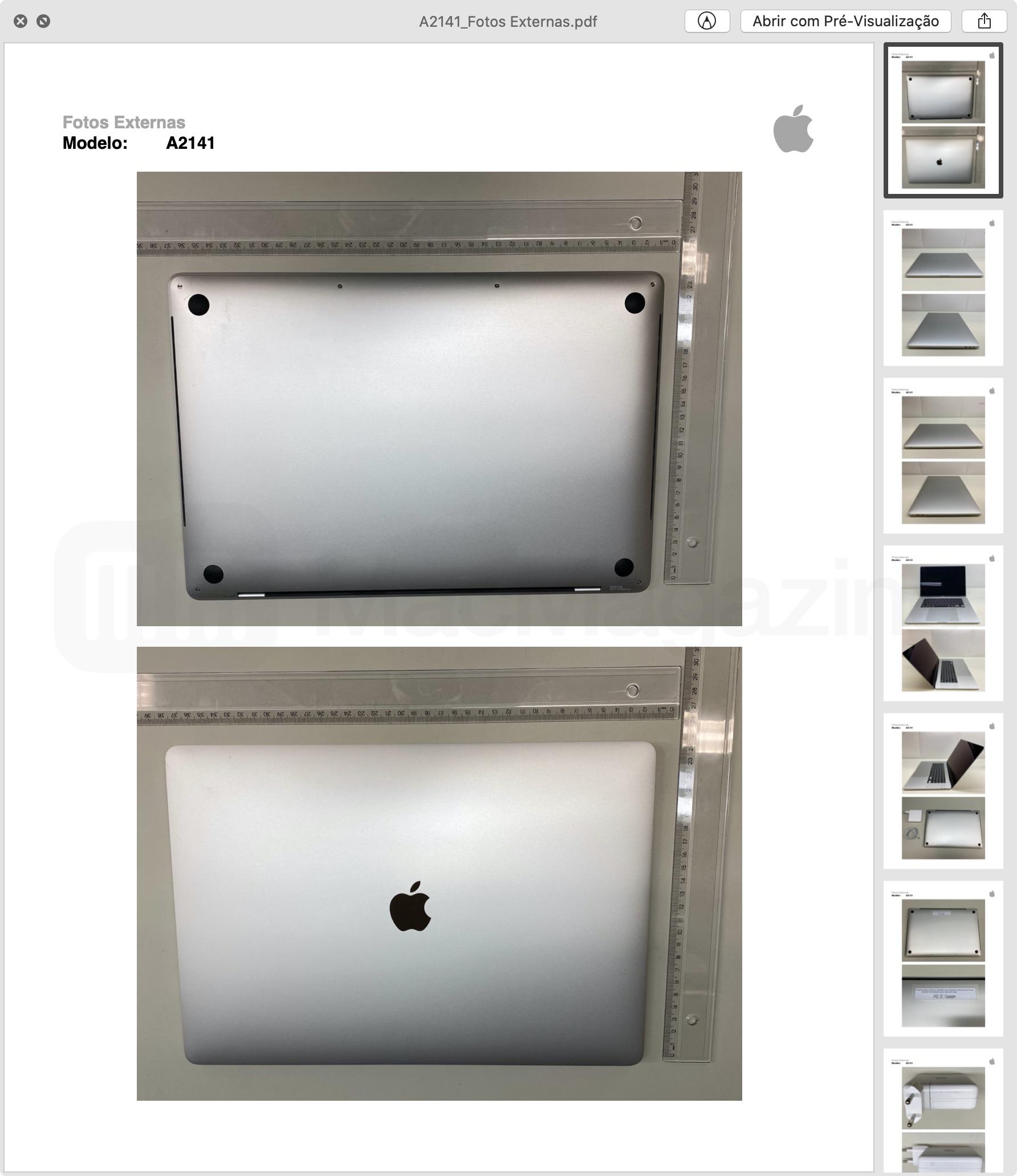 External Photos of MacBook Pro 16 Approval