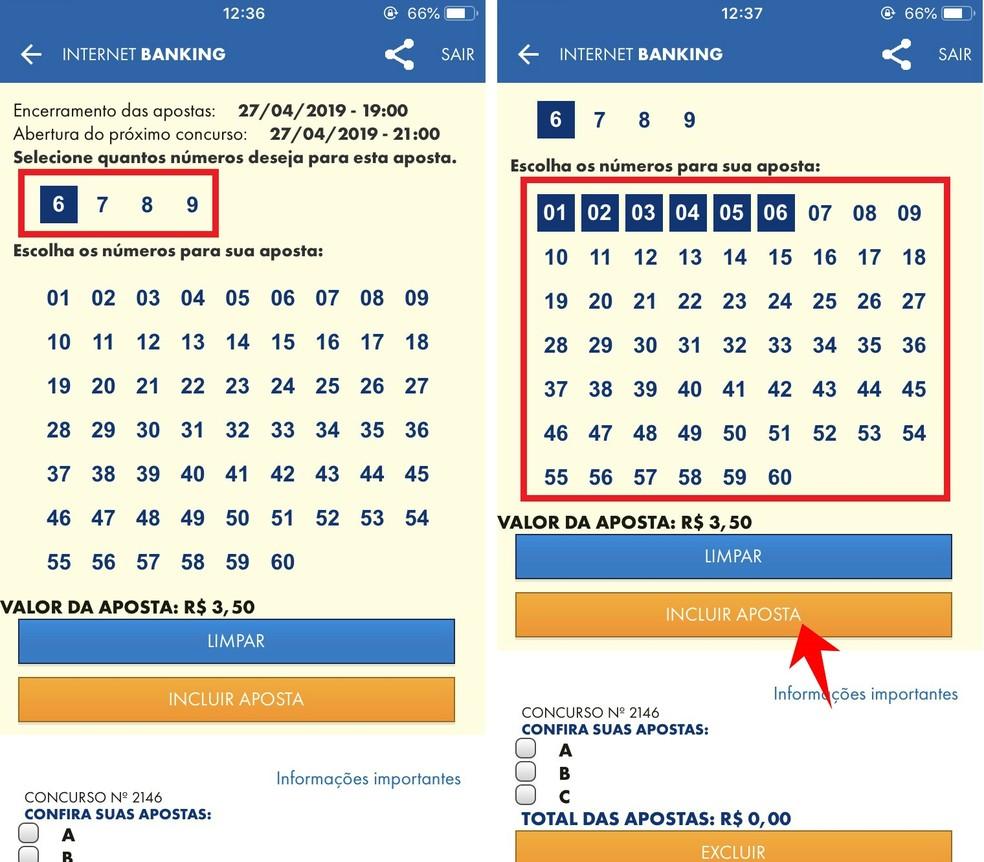 Caixa app allows you to score from six to nine tens in each Mega Sena game Photo: Reproduo / Rodrigo Fernandes
