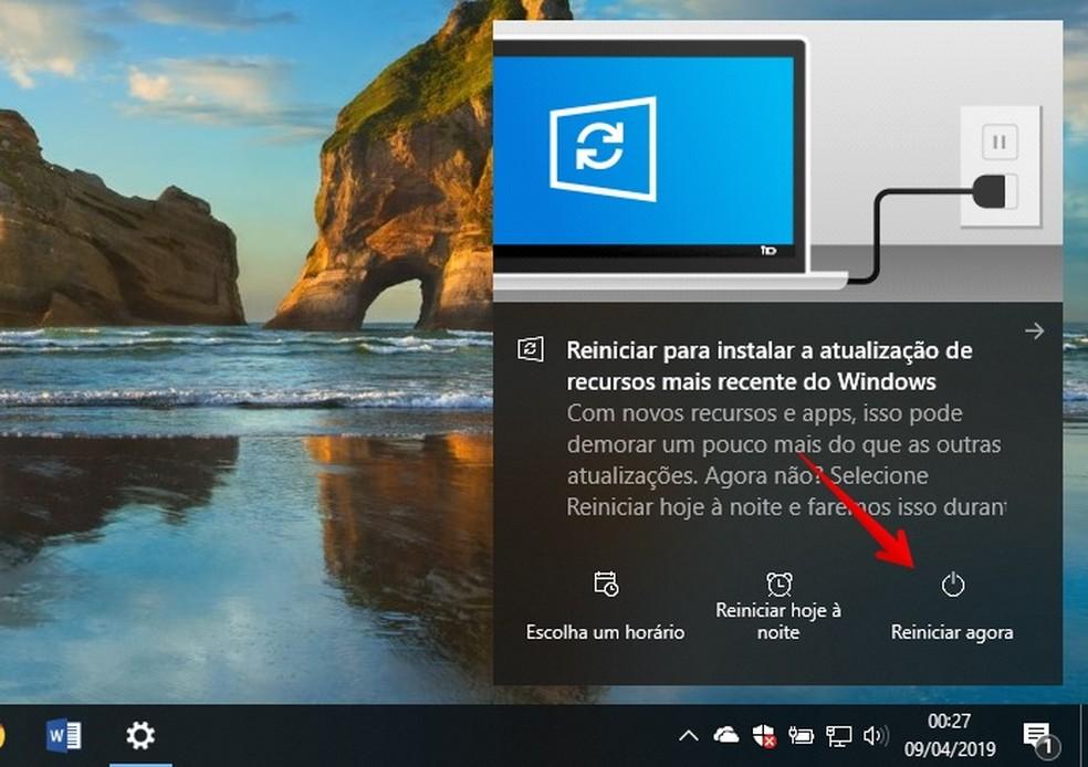 Installing Windows 10 May 2019 Update Photo: Reproduo / Helito Beggiora
