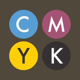 CMYK app icon.