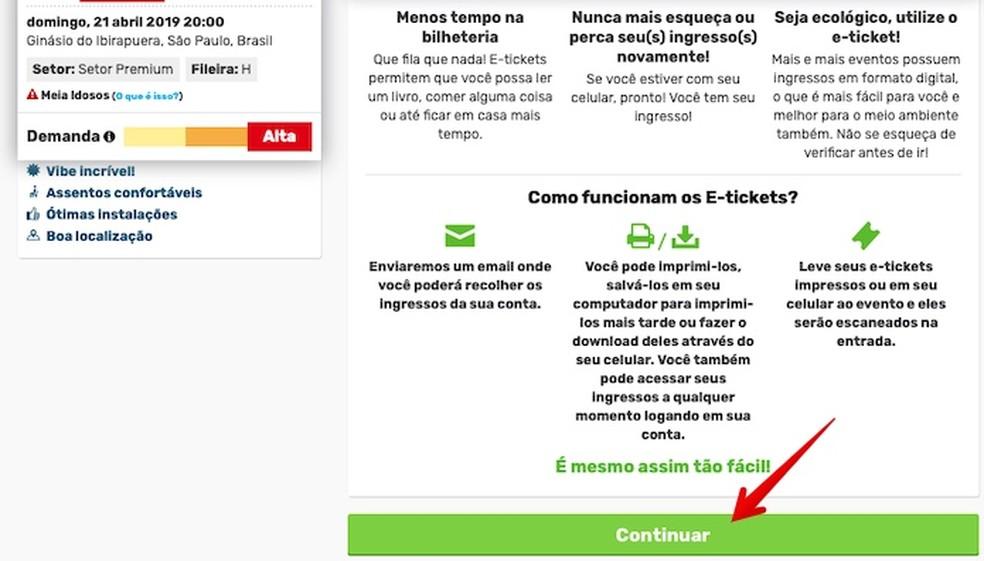 Digital Ticket Information Photo: Reproduction / Helito Beggiora