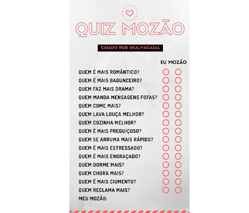 Quaz do cazal Prank Template for Instagram Story Photo: Playback / Pinterest