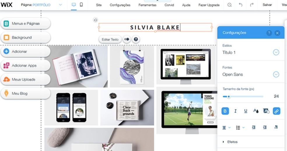 Start editing your site Photo: Reproduo / Mariana Coutinho