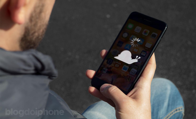Man holding iPhone screen image slug