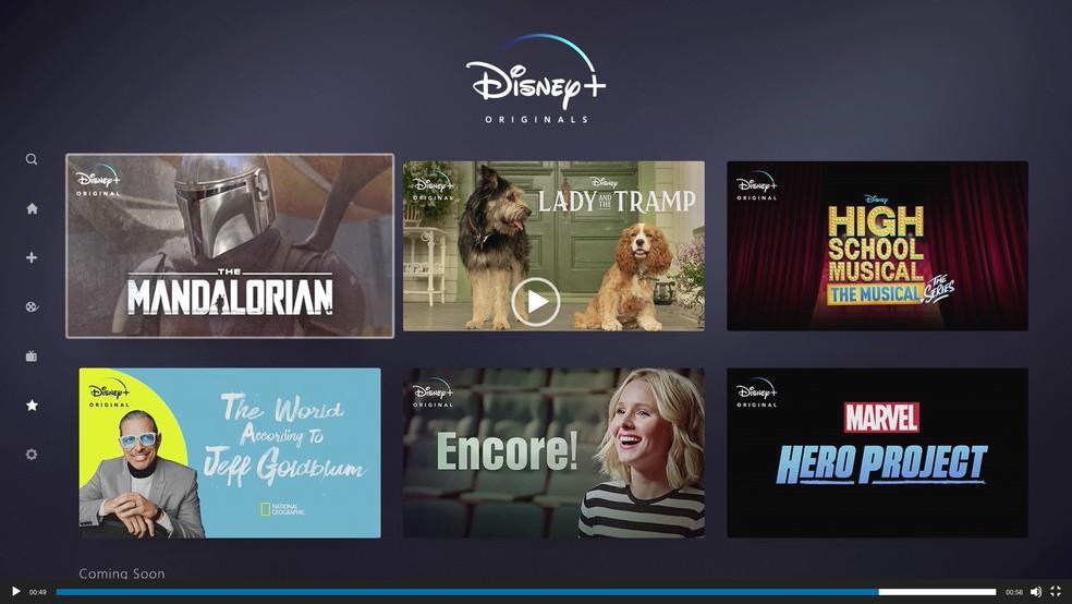 New Disney app interface prototype + Photo: Playback / Disney