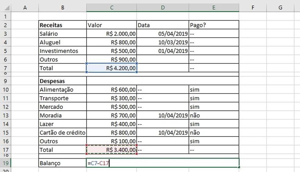 Calculating ms balance Photo: Reproduction / Helito Beggiora