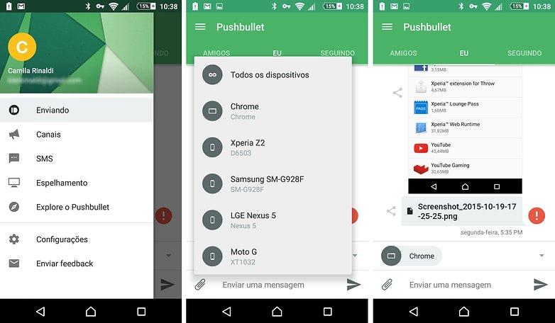 pushbullet app indication