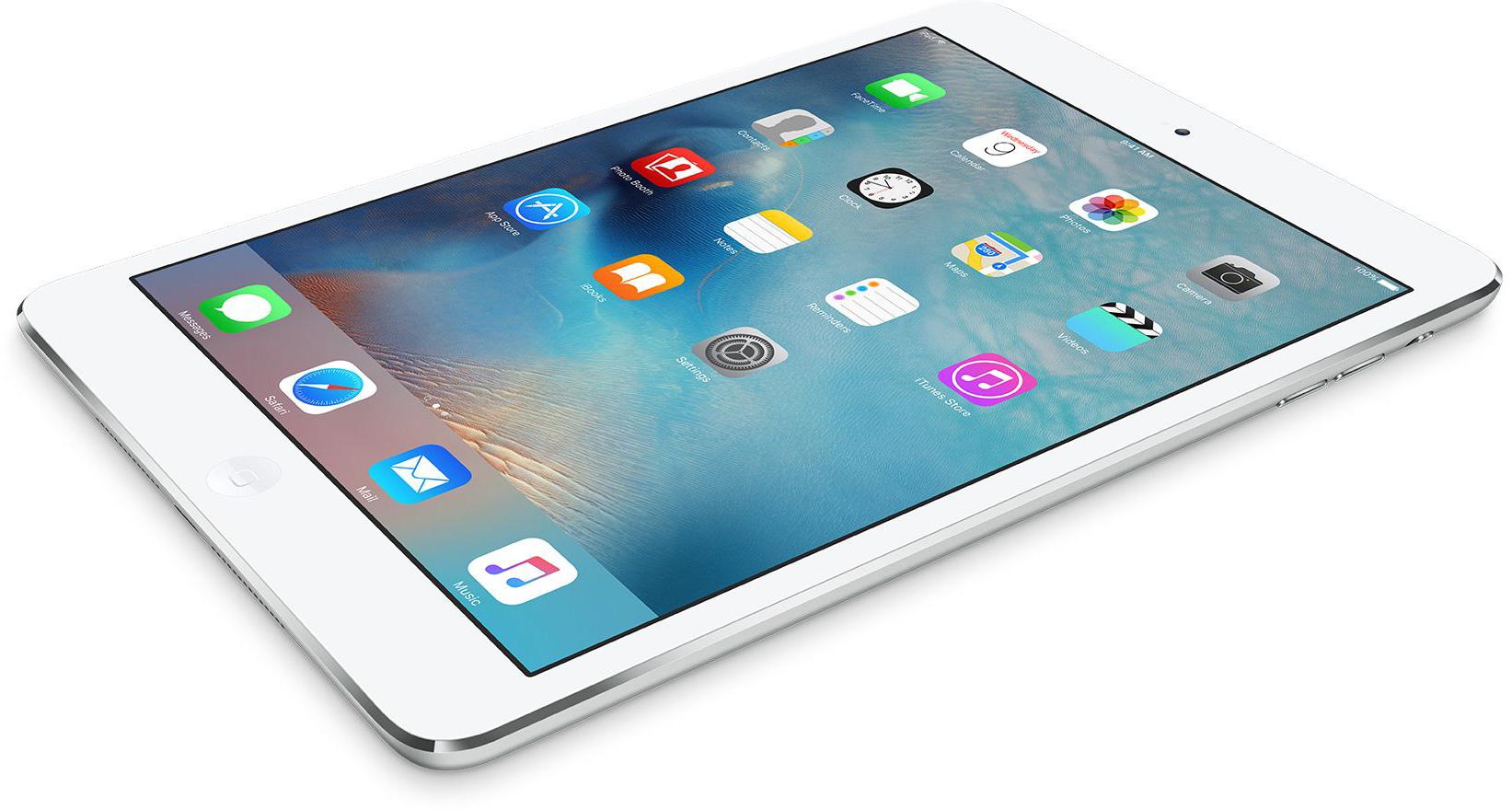 iPad mini 2 diagonally white