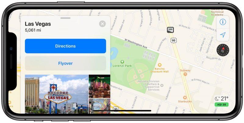 Apple Maps updated in Las Vegas