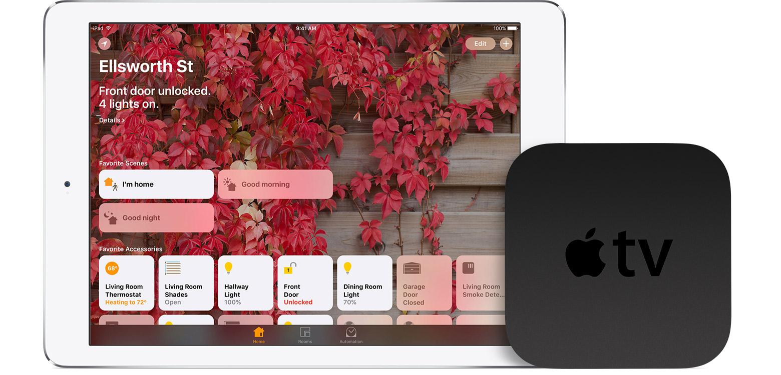 iPad and Apple TV as home center (HomeKit)