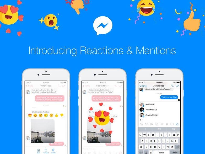 facebook messenger update reaction