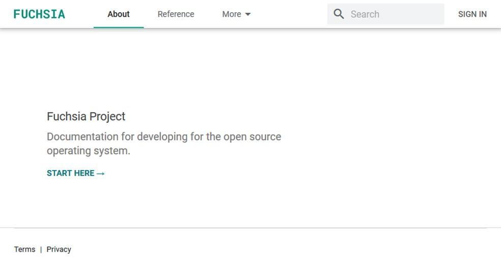 Google launched Fuchsia developer site Photo: Reproduction / Fuchsia