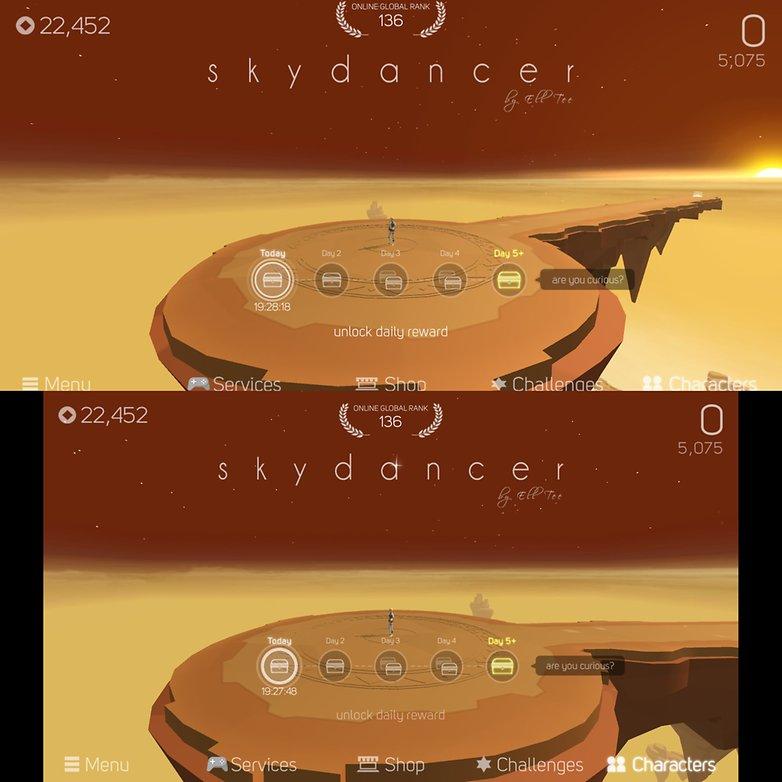AndroidPIT lg g6 display sky dancer