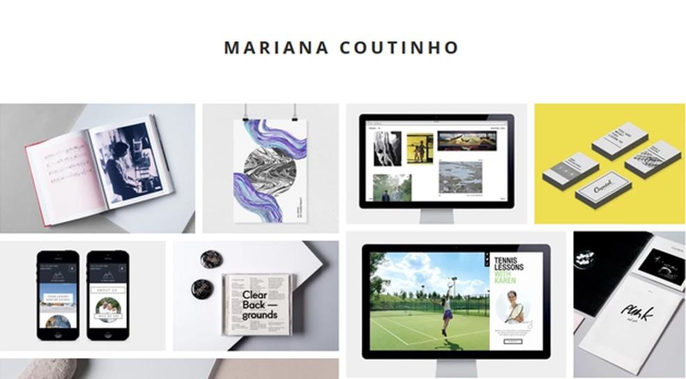 Example portfolio made with Wix Photo: Reproduo / Mariana Coutinho