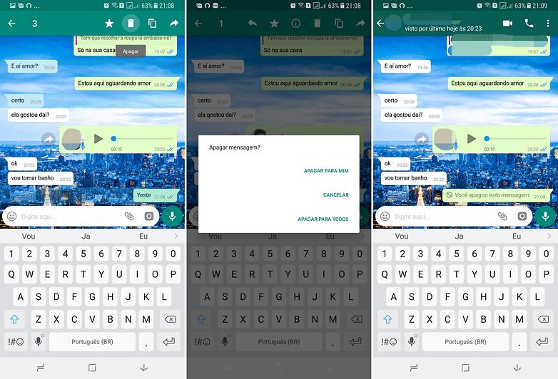 delete messages whatsapp update