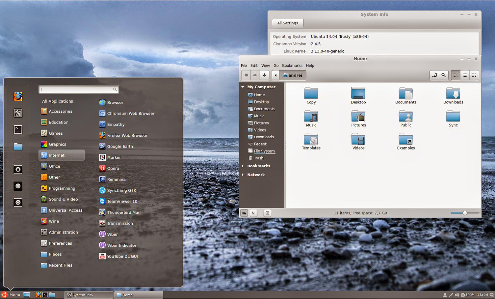 Cinnamon 2.4 on Ubuntu