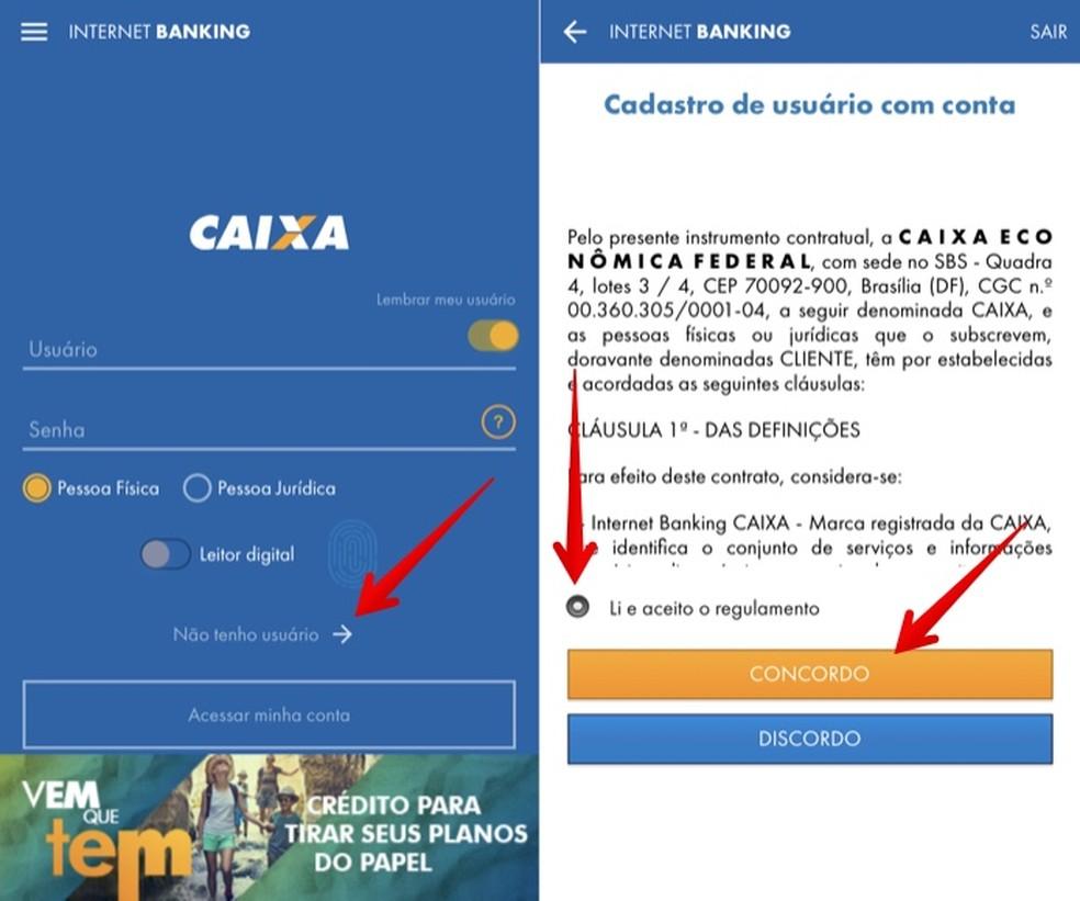 Creating registration in the box app Photo: Reproduo / Helito Beggiora