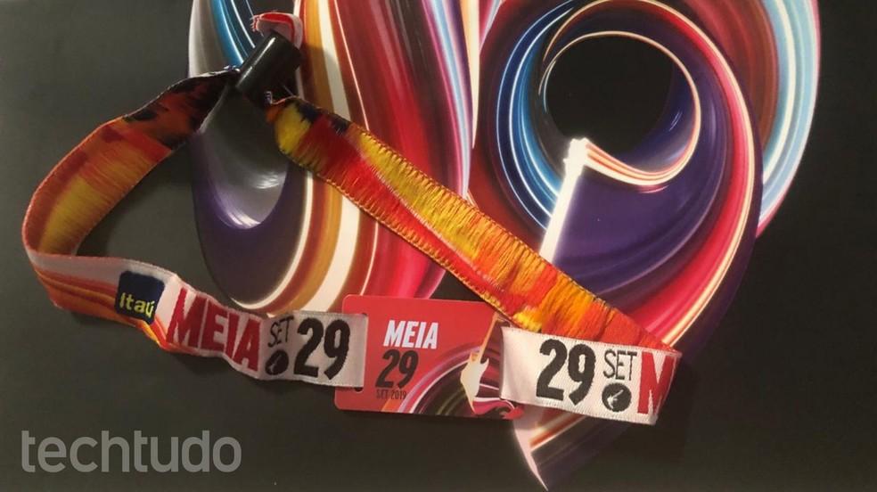 Tutorial shows how to register Rock in Rio 2019 bracelet Photo: Lvia Dmaso / TechTudo